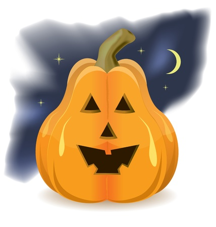 Halloween pumpkin scene  illustration Stock Vector - 15272873