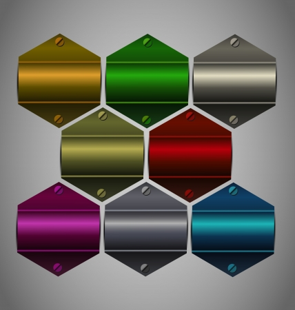 Creative and highly reflected metallic sticker collection for multipurpose use.