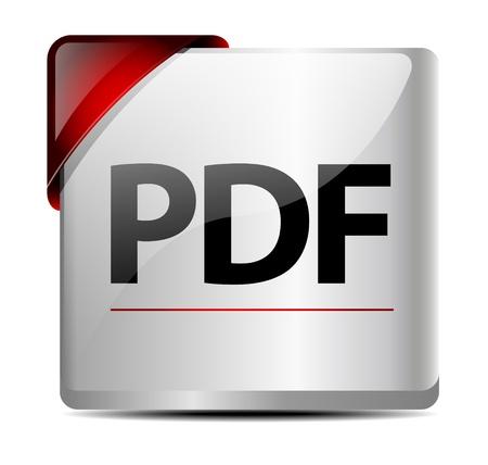 the acrobatics: Dise�o de un bot�n Descargar brillante  met�lico PDF  icono Vectores