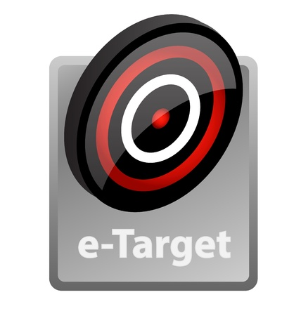 referral: illustration of e-target advertisement icon