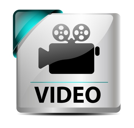 Design of a glossy/metallic video download button/icon Stock Vector - 15472943