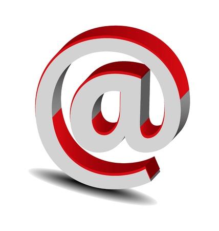 Originally designed brand red-grey 3D logo Stock Vector - 15567216