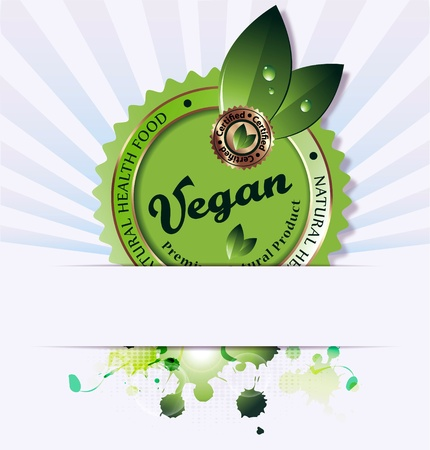 Design a based illustration of vegan background Stock Photo