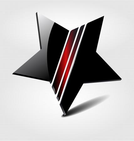 star logo: Originally designed vector brand black star logo Illustration