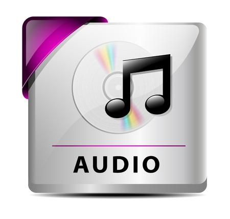 Originally designed audio download button/icon Stock Vector - 15603787