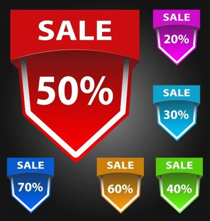 Design of vector sale labelsstickers Illustration