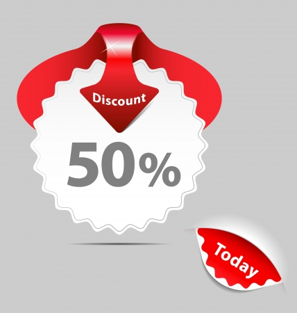A set of discount sale labels Stock Vector - 15614097