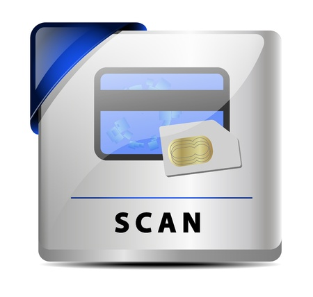 Originally designed scan button/icon Stock Vector - 15648671