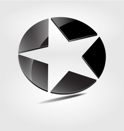 Originally designed black star brand logo/logotype Stock Vector - 15648672
