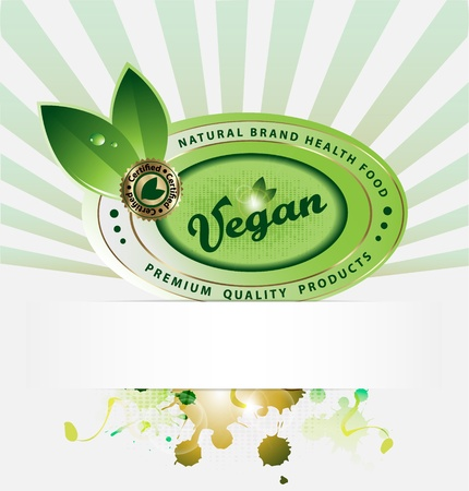 vegan background with empty copyspace Illustration