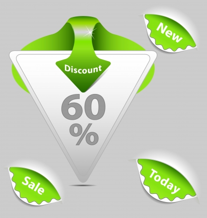 A collection of  discount sale labels