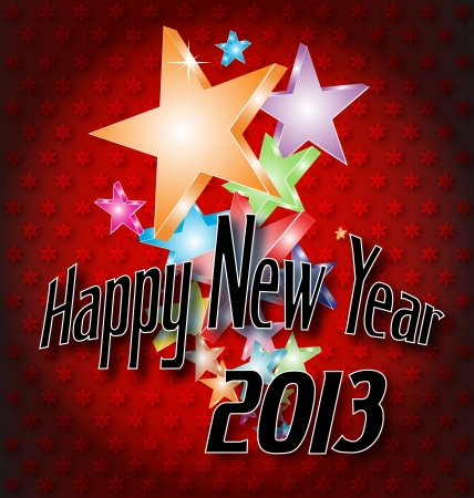Vector illustration of a Happy New Year background with creative elements