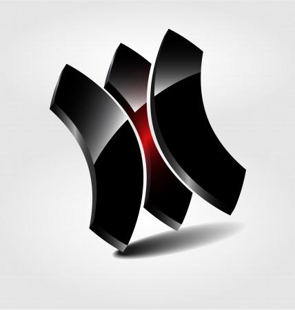 Originally designed abstract glossy brand logologotype