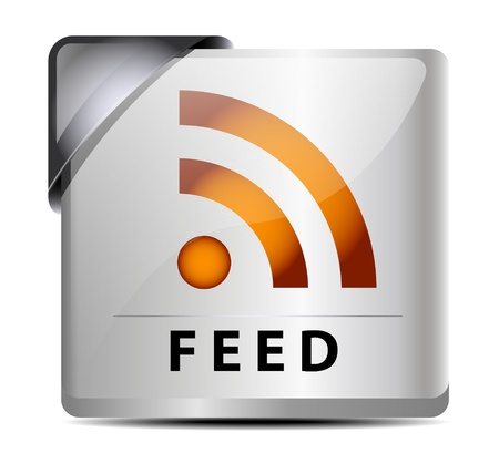 Originally designed RSS feed buttonicon Vector