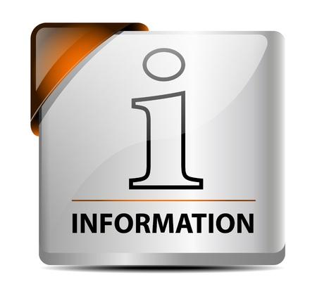 Originally designed information button/icon Stock Vector - 17058641