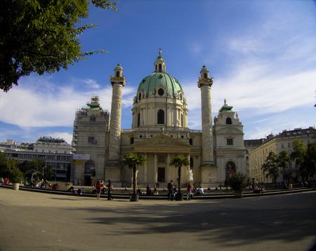 schoenbrunn: Karlskirche Vienna Austria October 2014 Editorial