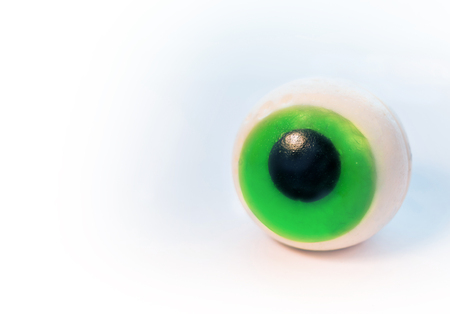 Silicone eye isolated on white background