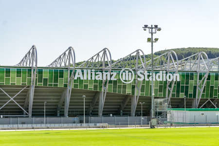 Vienna Austria June.8 2019, Outside view of Allianz Arena official stadium of FC Rapid