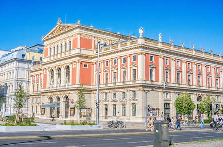 Vienna Austria July 30th 2020, Musikverein Viennese Music Association building in downtown Vienna 新聞圖片