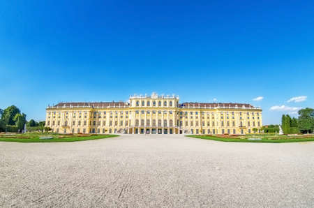 Vienna Austria July 31st 2020, Vienna, Austria: Schonbrunn Baroque palace complex and beautiful landscape gardens
