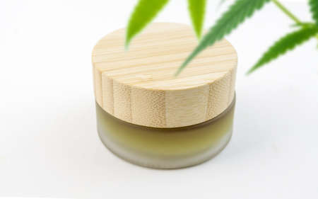 Full Spectrum CBD cannabis alternative medicine skincare cream in glass jar