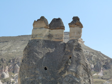strange mountain: Beautiful and mysterious Cappadocia, Turkey
