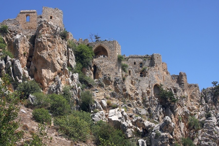st hilarion: Saint Hilarion Castle ruins, Kyrenia, Northern Cyprus