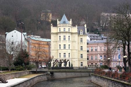 vary: Karlovy Vary, Czech Republic March 6 2015: City views