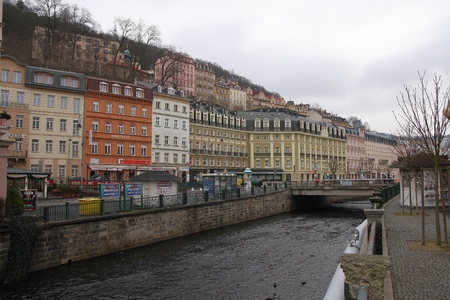 karlovy: Karlovy Vary, Czech Republic March 6 2015: City views