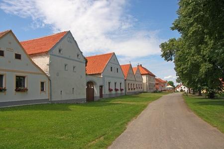 czech culture: Holasovice - village from Czech Republic