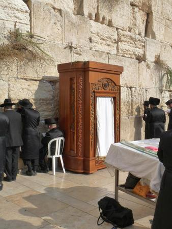 tabernacles: Jerusalem, Israel - October 9, 2009: The Western Wall, Wailing Wall or Kotel