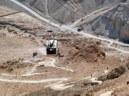 masada: Aerial tramway to Masada, Israel