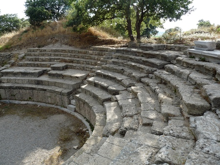troya: Ruins of Troy - Amphitheatre, Anatolia, Turkey
