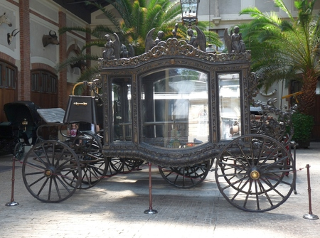 hearse: An old classy funeral hearse at Lancut palace, Poland