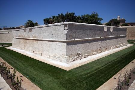 defense: Defense walls of Mdina, Malta Stock Photo