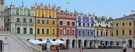 main market: Zamosc, Poland July 18 2011: Main market of Zamosc