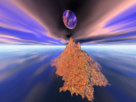 extrasensory: Illusion of fantasy world for reflection, background, designers
