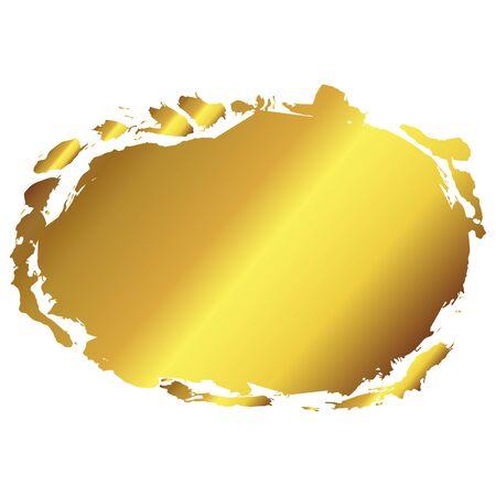 Golden vector art frame. Decoration border background. Vintage deco luxury card label illustration template. Stok Fotoğraf - 129790363