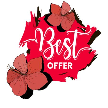 Vector sale tag with discount label. Promotion coupon retail collection banner. Isolated lable illustration element.