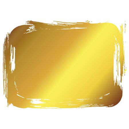 Golden vector art frame. Decoration border background. Vintage deco luxury card label illustration template.  イラスト・ベクター素材
