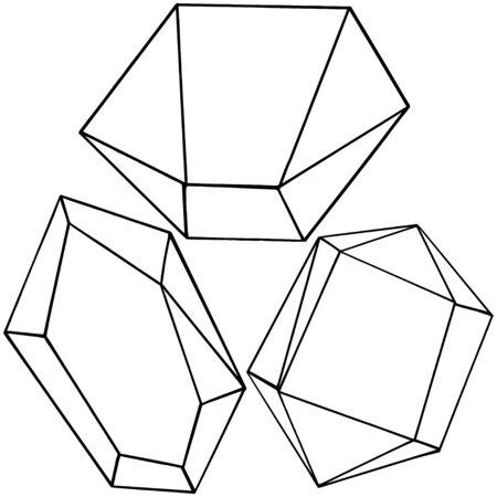 Vector geometric form. Isolated illustration element. Mosaic shape. Illustration