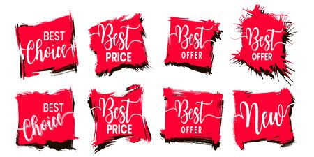Vector sale tag with discount label. Best offer business elements design. Season special deal.