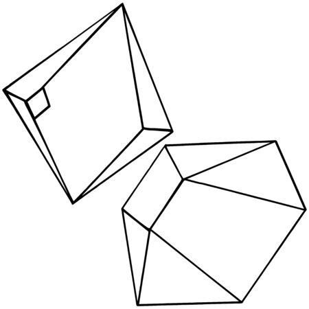 Vector geometric form. Isolated illustration element. Mosaic shape. Illusztráció