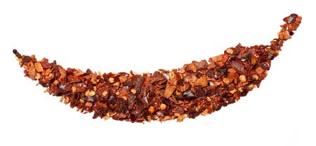 chiles secos: Red guindilla caliente aislado en un fondo blanco  Foto de archivo