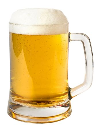 Mug of beer isolated on a white background Stock Photo - 5924537