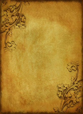 ornamental: vintage paper with victorian corners