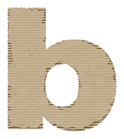 reusing: letter b made from torn cardboard Stock Photo