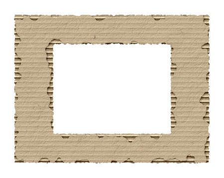 coarse: frame made from torn cardboard
