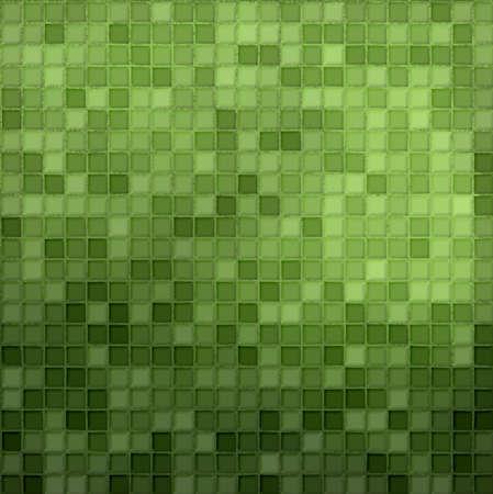 azulejos cocina: tejas verdes  Foto de archivo