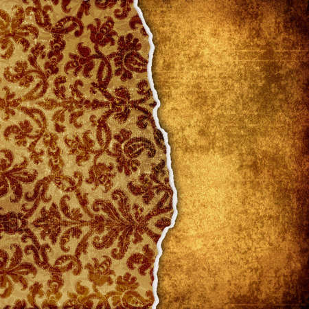 victorian torn paper on grungy background